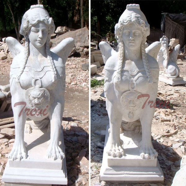Outdoor antique decorative marble sphinx statues for sale TMA-18