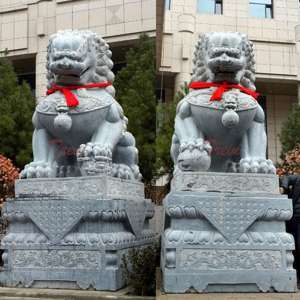 Chinese guardian lion foo dog garden ornaments for sale TMA-96