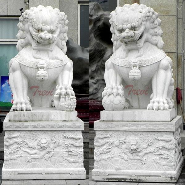 Factory Guardian foo dog statues pair artwork for driveway TMA-97
