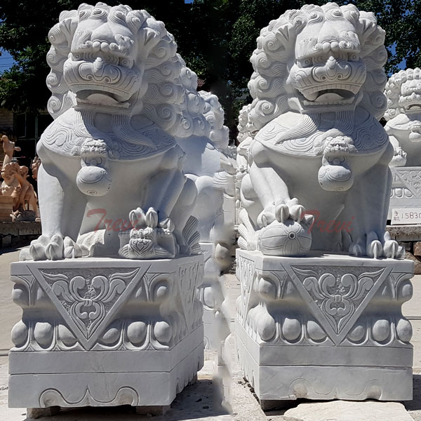 Forbidden city guardian lion feng shui foo dogs placement for home TMA-98