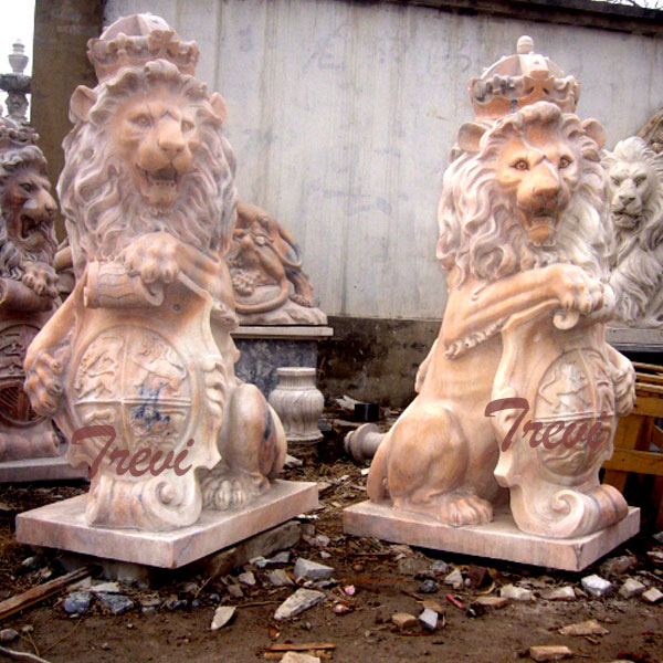 TMA-32 Outdoor life size guardian lion statue for sale
